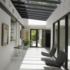 contemporary hall by Michael Wolk Design Associates