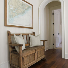 Beach Style Hall by Margaret Donaldson Interiors