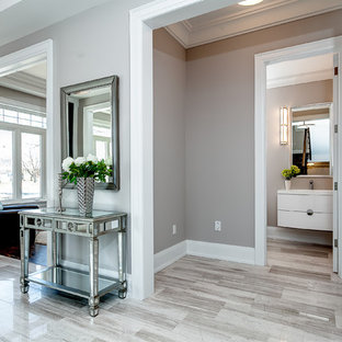 Inspiration for a 1960s marble floor hallway remodel in Toronto
