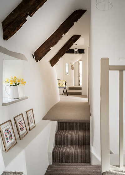 Country Hallway & Landing by Woodford Architecture and Interiors