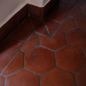 Spanish Floor Patterns in Authentic Terra-Cotta Clay