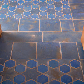 Spanish Mission Hex and Star Floor