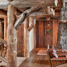 Rustic Hall by Lohss Construction