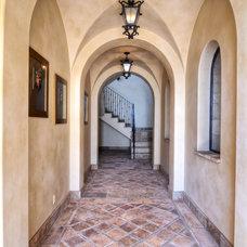 Mediterranean Hall by James Glover Residential & Interior Design