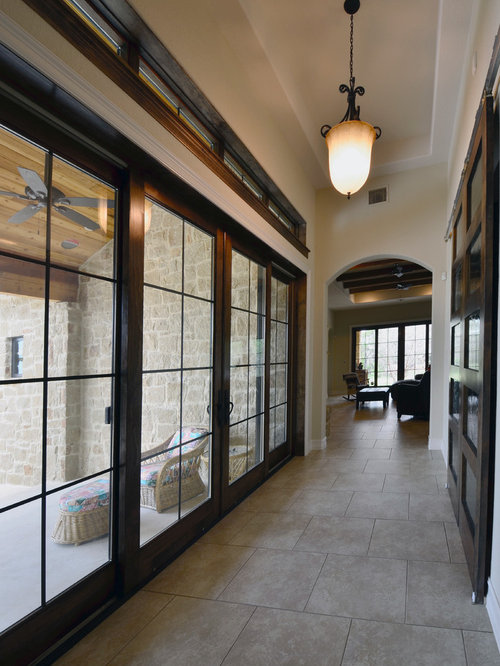 Rustic oklahoma city hallway design ideas pictures for Buildblock icf reviews