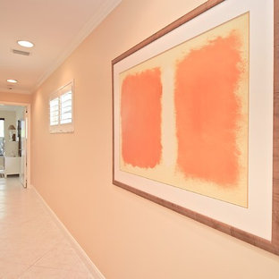 This is an example of a midcentury hallway in Tampa.