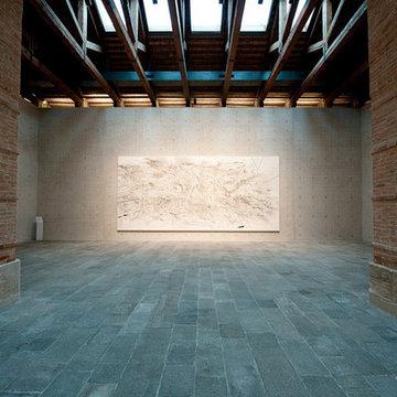 Stone Floor – Antique, Reclaimed Limestone 'Barre Montpelier' pavers