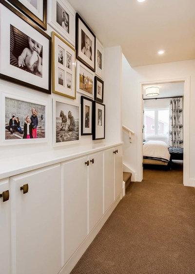 Transitional Hallway & Landing by Maison Design+Build