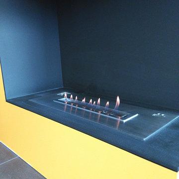 Super Design Fireline Ethanol Burners Inserts With Remote Control