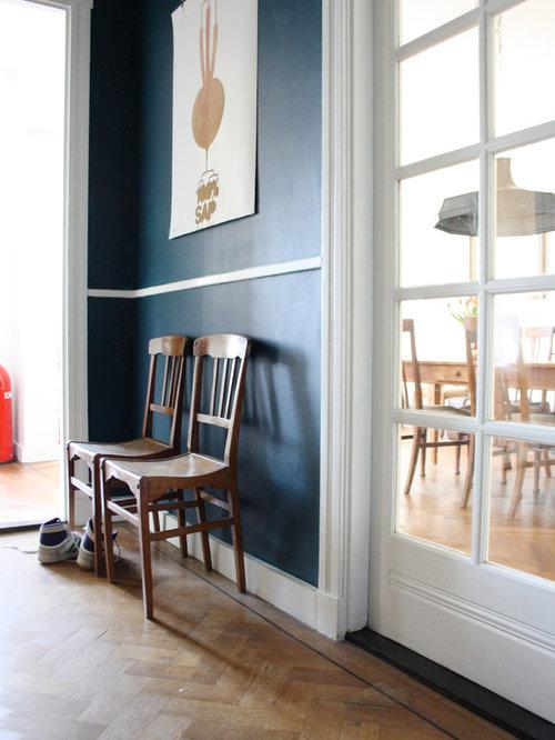 Blue Wall White Trim Houzz