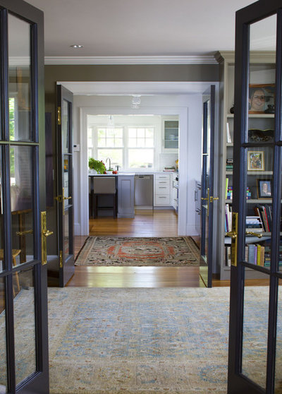 Interior glass doors shine as stars of the flow for Small double french doors