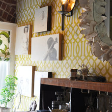 Eclectic Hall The Press Room: Lisa Bakamis Interior Design