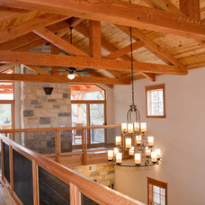 Traditional Hall by Texas Timber Frames