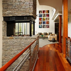 Contemporary Hall by KohlMark Architects and Builders