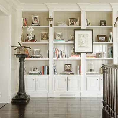 Hallway - traditional hallway idea in Los Angeles with white walls
