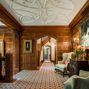 Example of a classic carpeted hallway design in Philadelphia