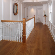 Traditional Hall by Heritage Wide Plank Flooring