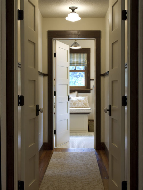Stained Trim With Painted Doors   Kadiewolfe. Embed Email Question. Example  Of A Classic Hallway Design In Minneapolis