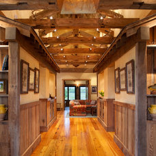 Rustic Hall by StoneHorse Design, Inc.