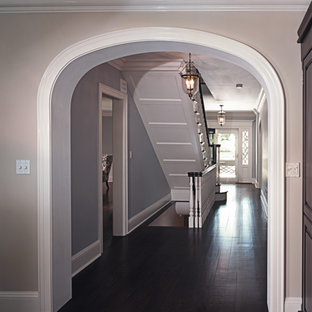 Transitional Front Hallway & Staircase