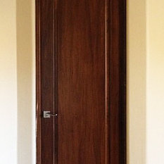 Here is a solid Poplar door with an elegant half-radius panel finished in a deep rich stain color. This door as pictured here is perfect for rustic ... & Poplar Doors   Houzz pezcame.com