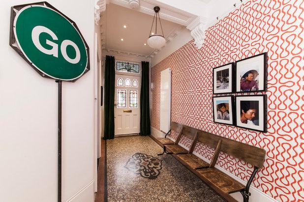 Eclectic Hallway & Landing by aegis interior design ltd