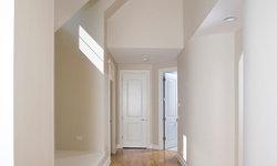 Upper Hallway Features Random Width Signature Vintage French Oak Floors