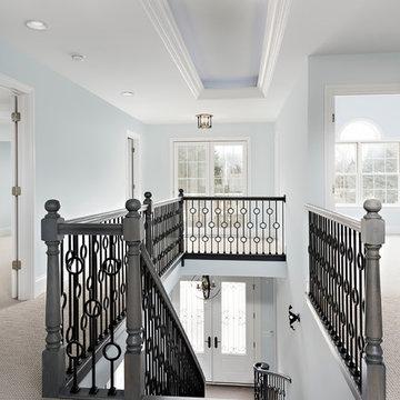 Upper Hallway in Custom Home - Columbia St, Naperville