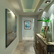 Beach Style Hall by LAURA MILLER, ASID, NCIDQ: INTERIOR DESIGN