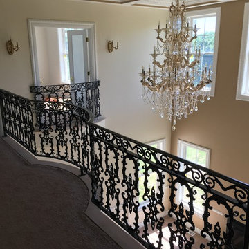 Victorian Curved Wrought Iron Juliette Balconies & Rails