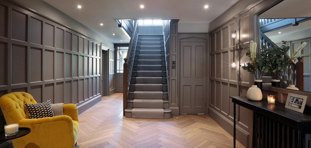 Transitional Hallway & Landing by Cherie Lee Interiors