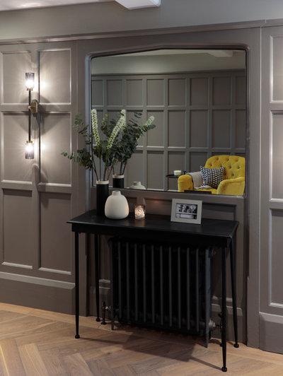 Transitional Hall by Cherie Lee Interiors