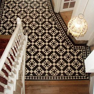 Victorian Geometric Floor Tiles in Hallway