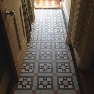 75 Most Popular Victorian Hallway with Ceramic Flooring Design Ideas