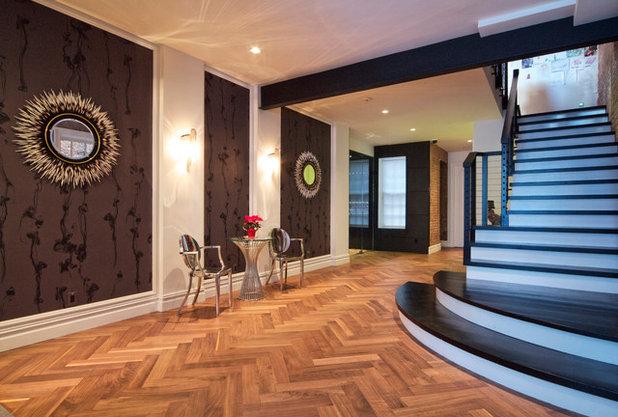 Contemporary Corridor by Vin de Garde Wine Cellars Inc.
