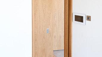 Visible Frame Pocket Doors