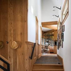 Beach Style Hall by Sandvold Blanda Architecture + Interiors LLC