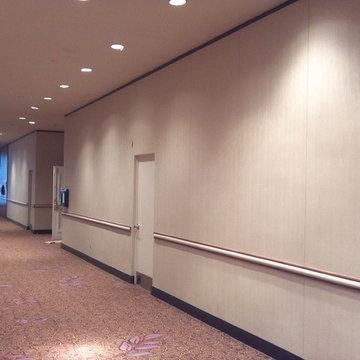 Wallscape Wallcovering in a Hotel Corridor