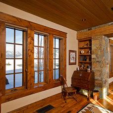 Rustic Hall by Teton Heritage Builders