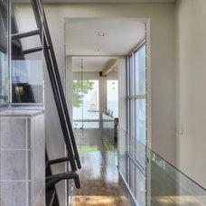 Contemporary Hall by Cornerstone Remodeling