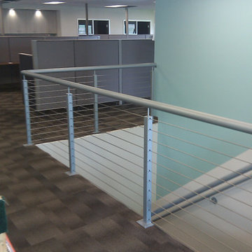 Welded Post & Rail with Stainless Cable Infill in Portland, OR