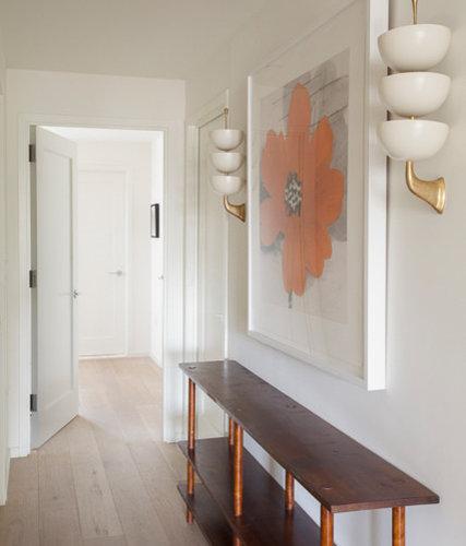 Midcentury New York Hallway Design Ideas, Pictures, Remodel & Decor