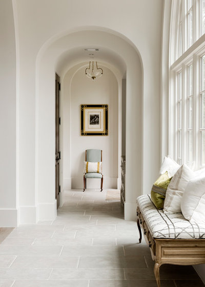 Transitional Hallway & Landing by Thompson Custom Homes