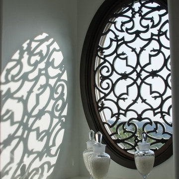 Window Treatments: Enliven Spaces with Tableaux Faux Iron Grilles
