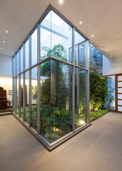 Guida houzz realizzare un vero giardino dentro casa - Giardino interno casa ...