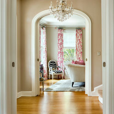Transitional Hall by Martha O'Hara Interiors