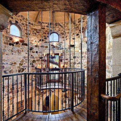 Inspiration for a mediterranean dark wood floor hallway remodel in San Francisco