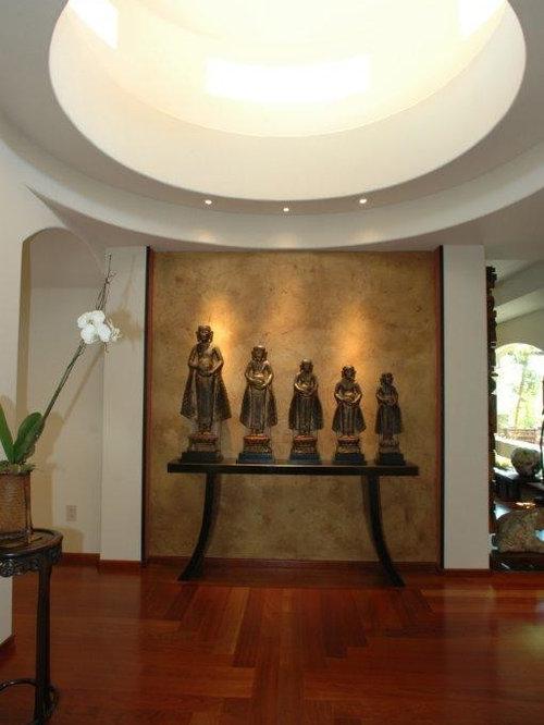 Asian Contemporary Modern Indoor Hallway Design Ideas