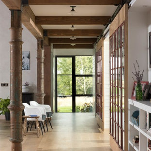 Inspiration for a cottage hallway remodel in Other