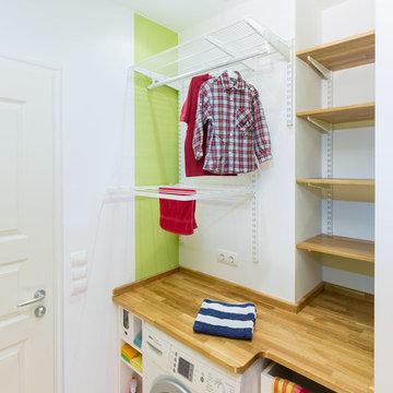 Waschmaschinenabdeckung mit Hängeregalen - elfa